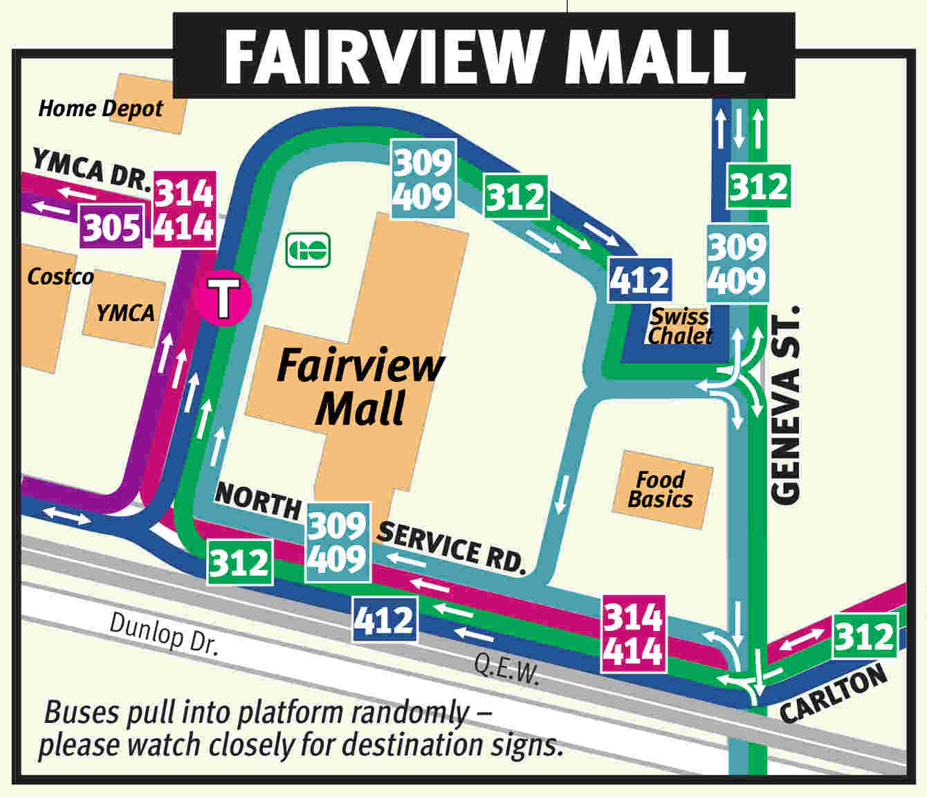 A map of the Fairview Mall.