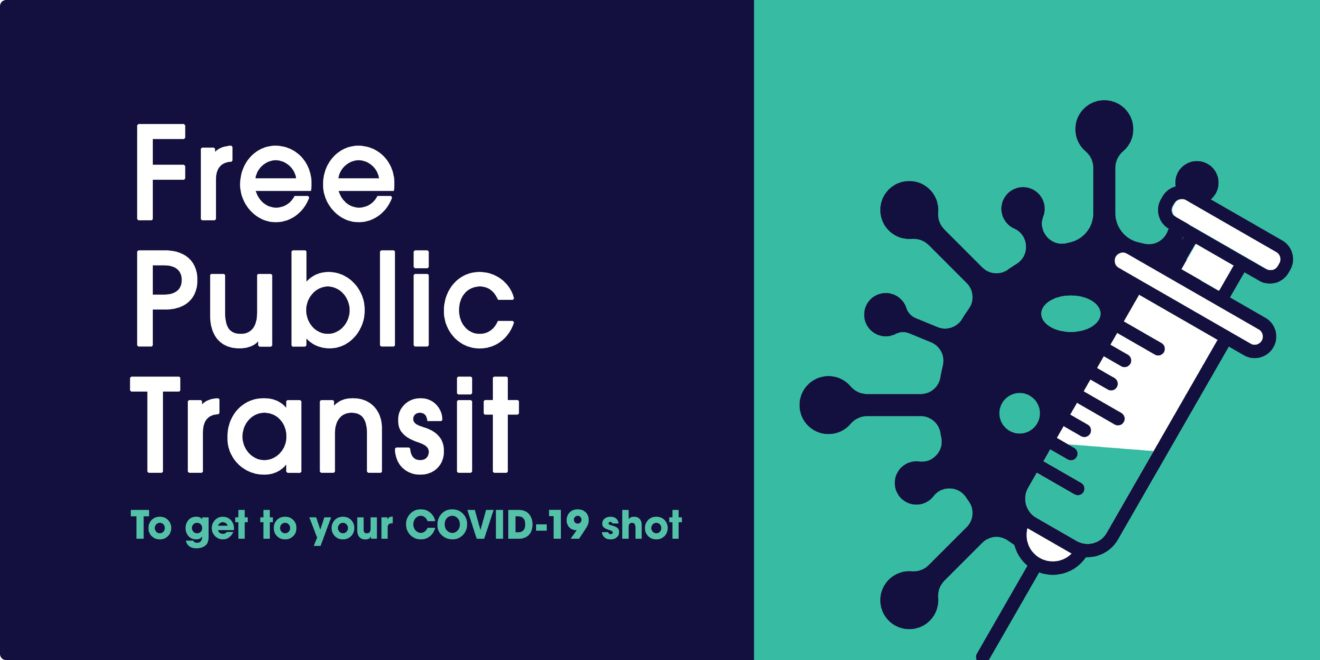 Icon indicating free transit to vaccination appointments.